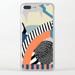 orange-blue Clear iPhone Case