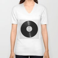 record V-neck T-shirts featuring Record by RMK Photography