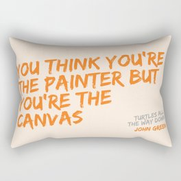 Turtles All the Way Down quote Rectangular Pillow