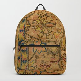 Golden Floral 19th Century Authentic Colorful Gold Yellow Green Vintage Patterns Backpack