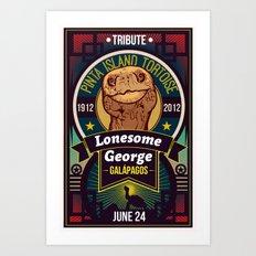 Lonesome George Art Print