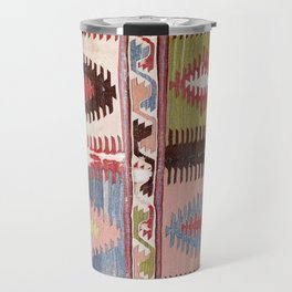 Afyon Antique West Anatolian Phrygian Kilim Print Travel Mug