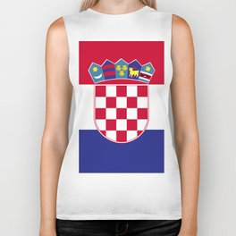 Croatia flag emblem Biker Tank