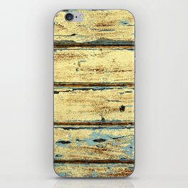 Yellow Planks, Wood Texture Decor iPhone Skin