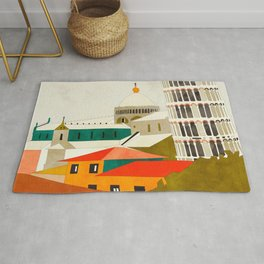 travel europe Italy shapes pisa tower Rug