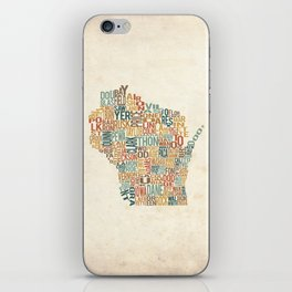 Wisconsin by County iPhone Skin