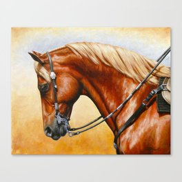 Western Sorrel Quarter Horse Canvas Print