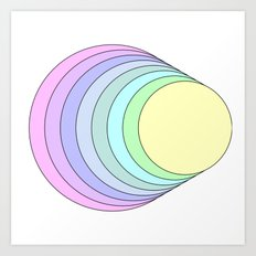 rainbow pastel Art Print