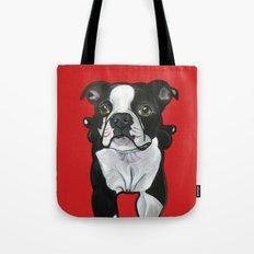 Bobo the Boston terrier Tote Bag