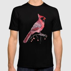 Red Cradinal Mens Fitted Tee Black MEDIUM