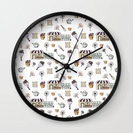 Flower Shop Wall Clock