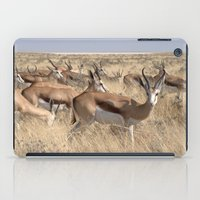 greg guillemin iPad Cases featuring Springbok herd - Greg Katz by Artlala for MSF Doctors Without Borders