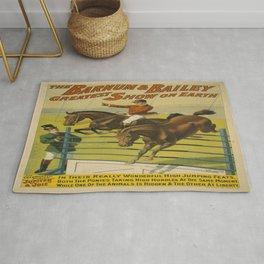 Vintage poster - Circus High Jumping Horses Rug