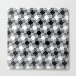 Blurry Houndstooth Metal Print
