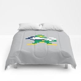 8bit Notre Dame Logo Comforters