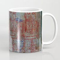 army Mugs featuring Robot army by Ale Ibanez