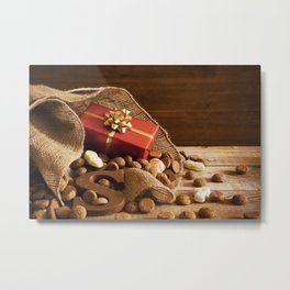 II - Bag with treats, for traditional Dutch holiday 'Sinterklaas' Metal Print