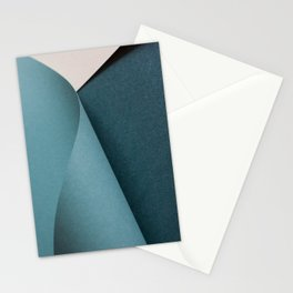 Folded paper waves Stationery Cards