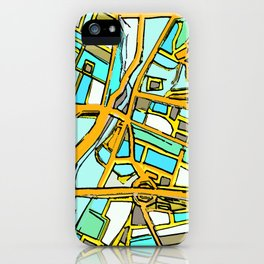 Abstract Map- Medford Square iPhone Case