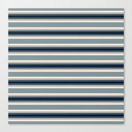 Blue Neutral Stripes Canvas Print