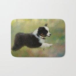 Miniature Australian Shepherd Puppy 2 Bath Mat