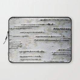 Black and White Birch Bark Laptop Sleeve