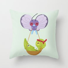 Poke bugss Throw Pillow