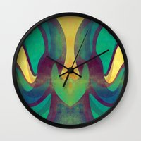 waves Wall Clocks featuring Waves by VessDSign