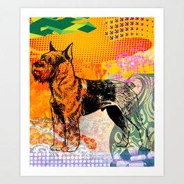 Schnauzer pop art Art Print