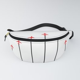 Retro Airplanes 12 Fanny Pack
