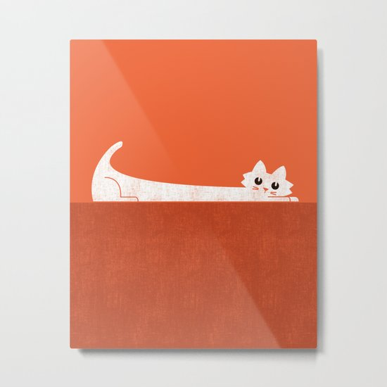 Mark's Superpower: cat Superstretch Metal Print