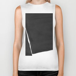 Minimal Black and White Abstract 03 Biker Tank