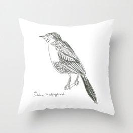 bahama mockingbird  Throw Pillow