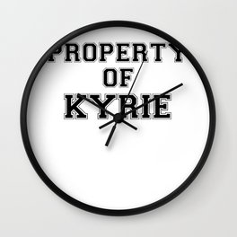 Property of KYRIE Wall Clock