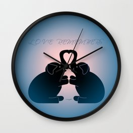 """Love Remembers"" Wall Clock"
