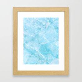 Larimar Stone Shadow Framed Art Print