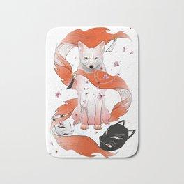 Red Kitsune Bath Mat