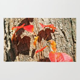 Red Autumn Leaves Rug