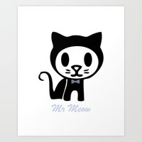Mr Meow Art Print