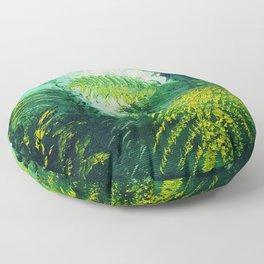 Rainforest Lights and Shadows Floor Pillow
