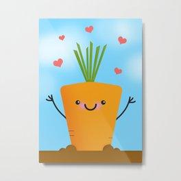 Carrot Love Metal Print