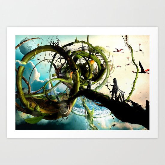 Oz (surreal version of the wizard of Oz) Art Print