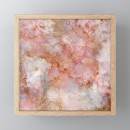 Beautiful & Dreamy Rose Gold Marble Framed Mini Art Print