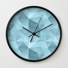 Light blue polygonal Wall Clock