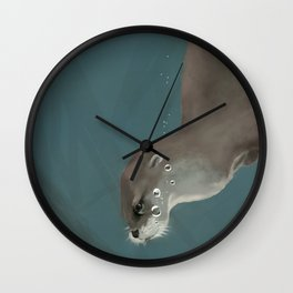 Otter in a Mangrove, Costa Rica Wall Clock