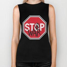 Stop War Biker Tank