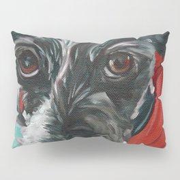 Black and White Dog Portrait Pillow Sham