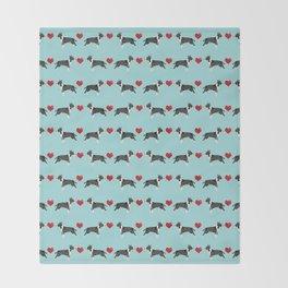 Bull Terrier hearts love dog breed pet friendly gifts terriers bull terriers Throw Blanket