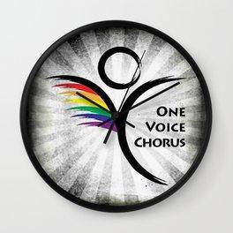 OVC retro logo Wall Clock