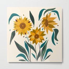 Sunflower in my garden Metal Print
